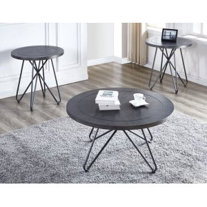 """Steve Silver Co.Derek Round Cocktail Table 36""""x36""""x18"""" (30mm thickness)"""