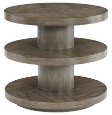 Profile Round End Table in Profile Warm Taupe (378)