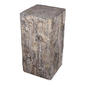 Faux-Beam Cement Stool