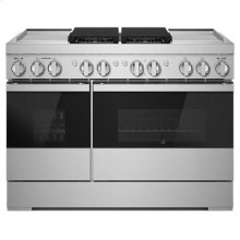 "NOIR 48"" Dual-Fuel Professional Range with Dual Chrome-Infused Griddles"