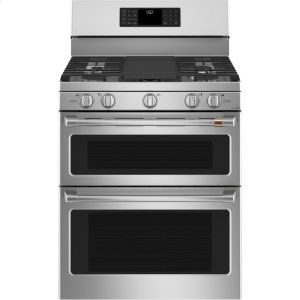 "GE30"" Smart Free-Standing Gas Double-Oven Range with Convection"