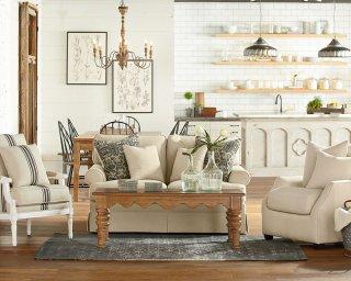 Farmhouse Open Plan Living Room