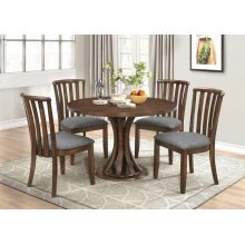 Prescott Causal Vintage Cinnamon Five-piece Dining Set