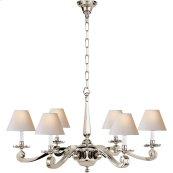 Visual Comfort AH5010PN-NP Alexa Hampton Myrna 6 Light 33 inch Polished Nickel Chandelier Ceiling Light
