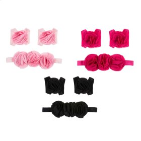 12 set ppk. Flower Headband & Bootie Set/3