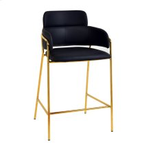 Karl Black Vegan Leather Counter Stool (Set of 2)