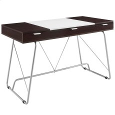 Panel Office Desk in Cherry Product Image