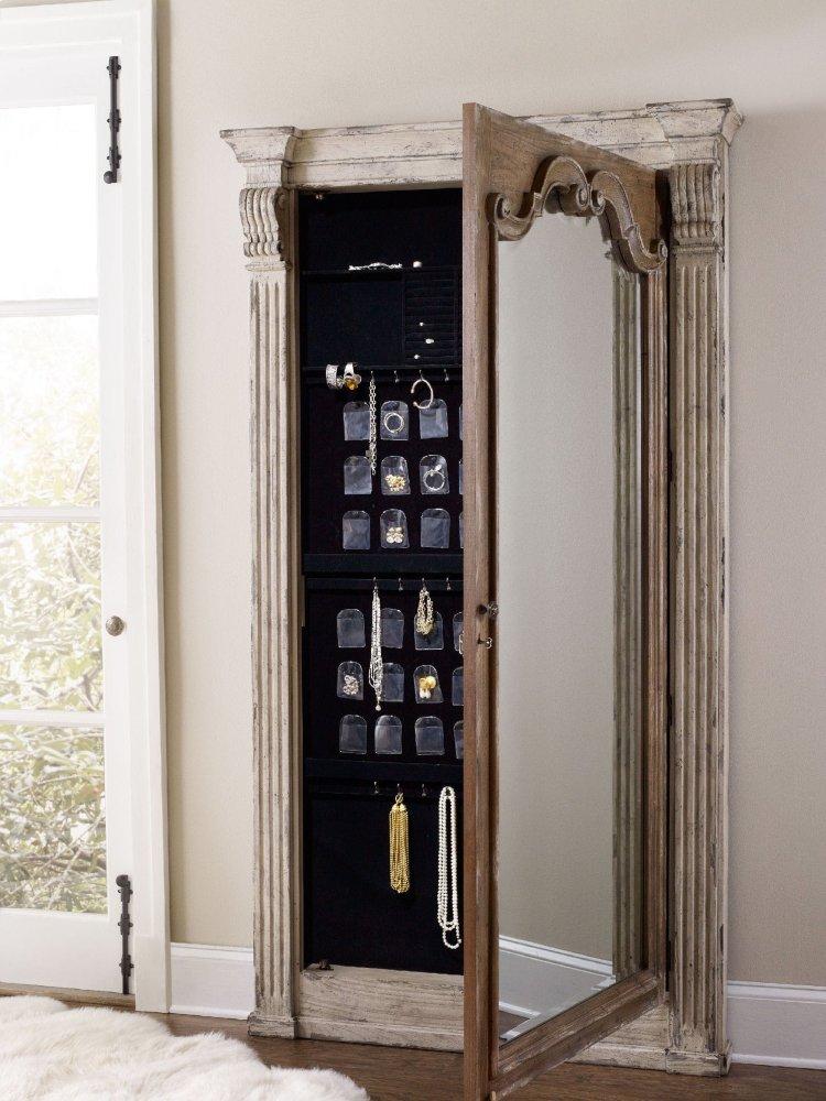 Hidden · Additional Chatelet Floor Mirror W/Jewelry Armoire Storage
