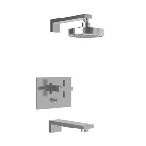 Gloss Black Balanced Pressure Tub & Shower Trim Set
