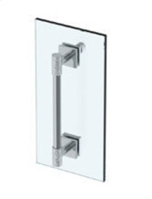 "Sense 18"" Shower Door Pull With Knob / Glass Mount Towel Bar With Hook"