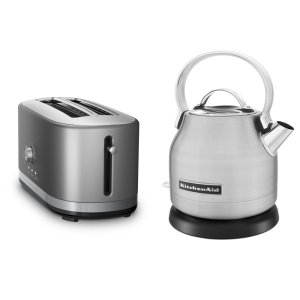 KitchenaidExclusive Breakfast Bundle (Toaster + Kettle) - Stainless Steel