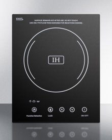 Built-in Induction Cooktop With Single Zone, 1800 Watts, 120 Volts, and Black Ceran Smooth-top Finish