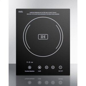 SummitBuilt-in Induction Cooktop With Single Zone, 1800 Watts, 120 Volts, and Black Ceran Smooth-top Finish