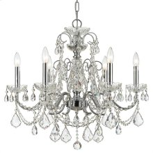 Imperial 6 Light Spectra Crystal Chrome Chandelier