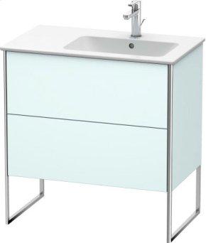 Vanity Unit Floorstanding, Light Blue Matt Decor
