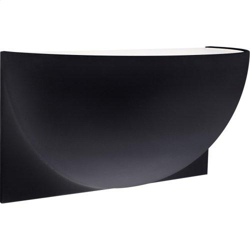 Visual Comfort PB2070MBK-FG Peter Bristol Quarter Sphere LED 10 inch Matte Black Up Light Wall Light, Small