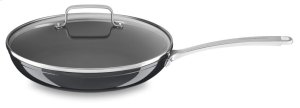 """12"""" Hard Anodized Non-Stick Skillet with lid - Black Sapphire"""