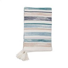 Hand Woven Multi Hayes Throw Blue