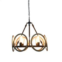 6-Light Industrial Chandelier in Oil Rubbed Bronze Product Image