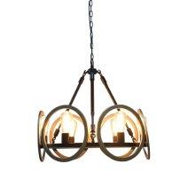 6-Light Industrial Chandelier in Oil Rubbed Bronze