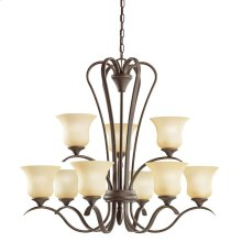 Wedgeport Collection Wedgeport 9 Light Chandelier in Olde Bronze