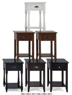 Espresso Chairside Table