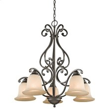Camerena Collection Camerena 5 Light, 1 Tier Chandelier in Olde Bronze