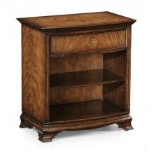 Crotch Walnut Bedside Cabinet with Shelf
