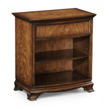 Crotch Walnut Bedside Cabinet with Shelf