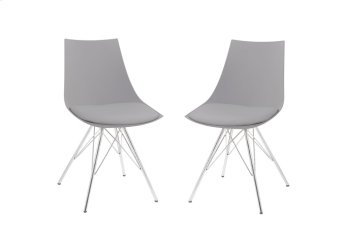 Emerald Home Audrey Dining Chair Gray Seat-chrome Base D119chr-32-03 Product Image