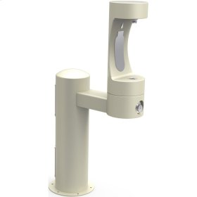 Elkay Outdoor EZH2O Bottle Filling Station Pedestal, Non-Filtered Non-Refrigerated Beige