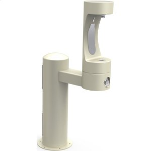 Elkay Outdoor EZH2O Bottle Filling Station Pedestal, Non-Filtered Non-Refrigerated Beige Product Image