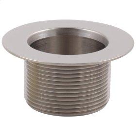 Brushed Nickel Toe-Operated Waste Plug