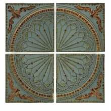 Blue Quarter Medallion Wall Panels - Set of 4
