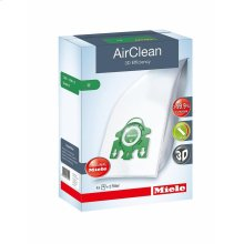 U AirClean 3D AirClean 3D Efficiency U dustbags ensures that dust picked up stays inside the machine.