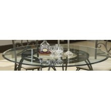"45"" Round Glass Dining Table Top"