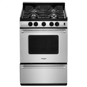 WhirlpoolWhirlpool® 24-inch Freestanding Gas Range with Sealed Burners - Stainless Steel