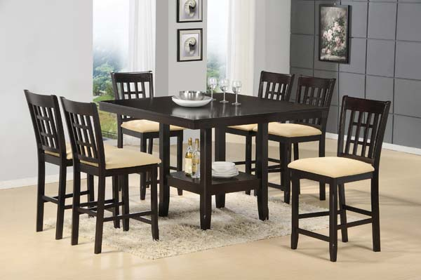 Tabacon 9pc Counter Height Dining Set Hidden