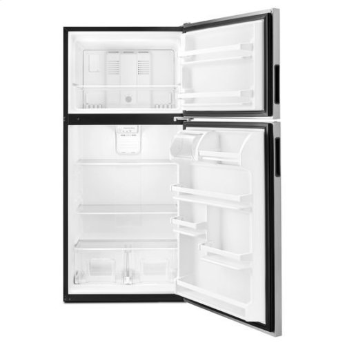 30-inch Wide Top-Freezer Refrigerator with Glass Shelves - 18 cu. ft. - black