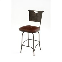 Steel Traditions - Savannah Swivel Barstool With Leather Seat