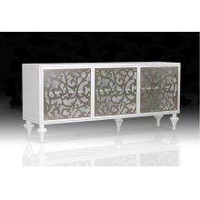Versus Ambra - Modern White 3-Door Buffet
