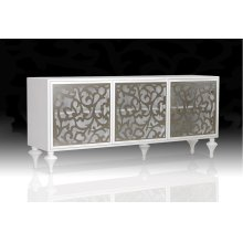 Versus Ambra - Modern White 3-Door Buffet
