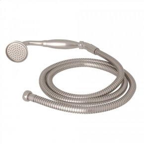 Satin Nickel Perrin & Rowe Inclined Handshower And Hose with Metal Handshower