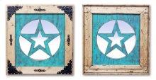 Medium Turquoise Star Mirror
