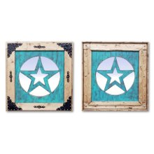 Medium Turquoise Star Mirror