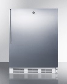 ADA Compliant Commercial All-refrigerator for Freestanding General Purpose Use, Auto Defrost W/lock, Ss Door, Thin Handle, and White Cabinet