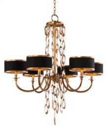 Black Tie Six-Light Chandelier
