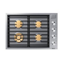 """Modernist 30"""" Gas Cooktop, Silver Stainless Steel, Natural Gas"""