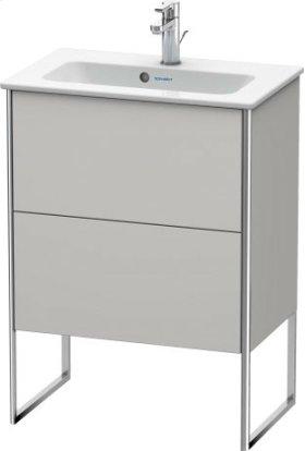 Vanity Unit Floorstanding Compact, Nordic White Satin Matt Lacquer