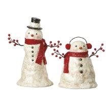 Snowman with Branch Arms (2 asstd).